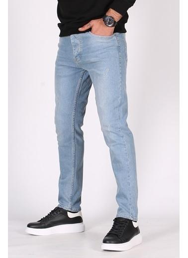 Madmext  Buz si Slim Fit Erkek Jean 5096 Mavi